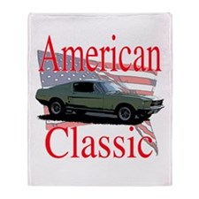 67 Mustang Fastback Throw Blanket