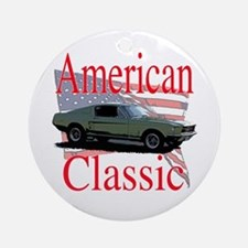 67 Mustang Fastback Ornament (Round)