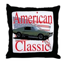 67 Mustang Fastback Throw Pillow
