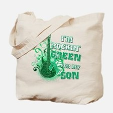 I'm Rockin Green for my Son Tote Bag