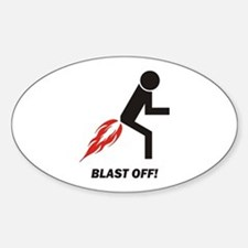 Blast Off Sticker (Oval)
