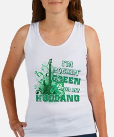 I'm Rockin Green for my Husba Women's Tank Top