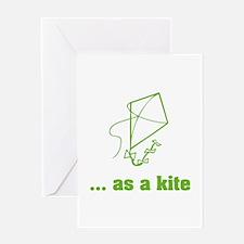 ... as a kite Greeting Card