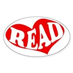 Read Heart Bumper Sticker for Reading