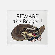 Badger - Throw Blanket