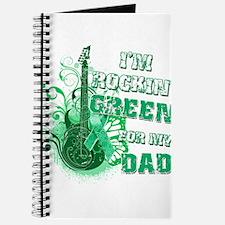 I'm Rockin Green for my Dad Journal