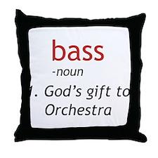 Bass Definition Throw Pillow