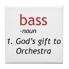 Bass Definition Tile Coaster