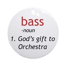 Bass Definition Ornament (Round)