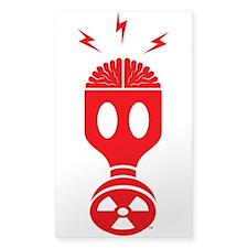 Masked Brain Sticker (Clear)
