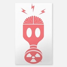 Masked Brain Sticker (Clear)