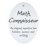 Math Connaisseur Ornament (Oval)