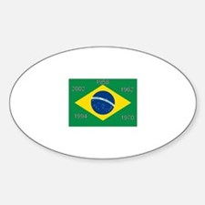 Brazil#12 Oval Decal