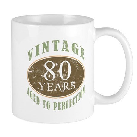 Vintage 80th Birthday Mug