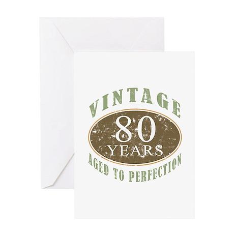Vintage 80th Birthday Greeting Card