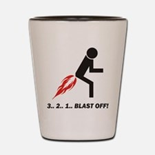 Blast Off Shot Glass