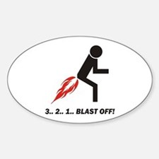 Blast Off Sticker (Oval 10 pk)