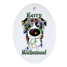 Aussie - Rerry Rithmus Ornament (Oval)
