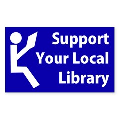 Support Your Local Library Bumper Decal