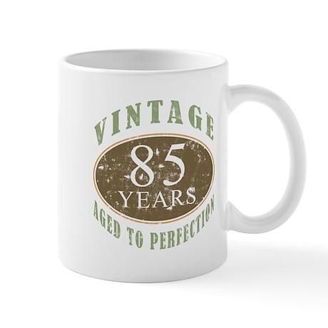 Vintage 85th Birthday Mug