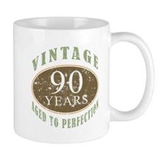 Vintage 90th Birthday Small Mug