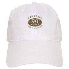 Vintage 90th Birthday Baseball Cap