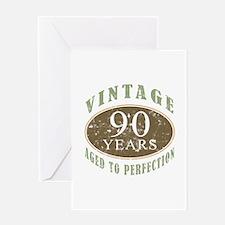 Vintage 90th Birthday Greeting Card