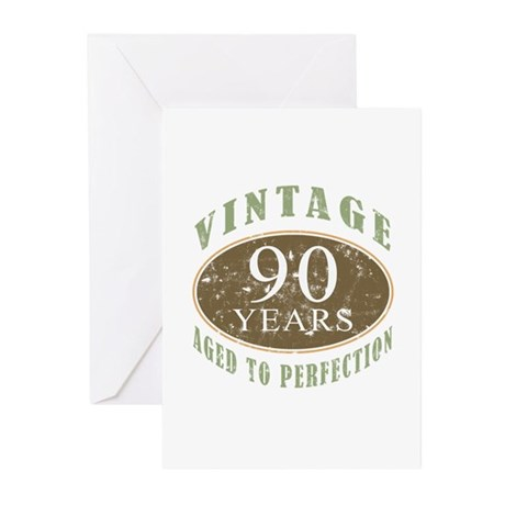 Vintage 90th Birthday Greeting Cards (Pk of 20)