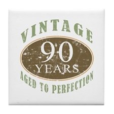 Vintage 90th Birthday Tile Coaster