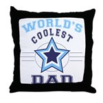 World's Coolest Dad Throw Pillow