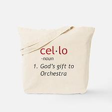Cello Definition Tote Bag