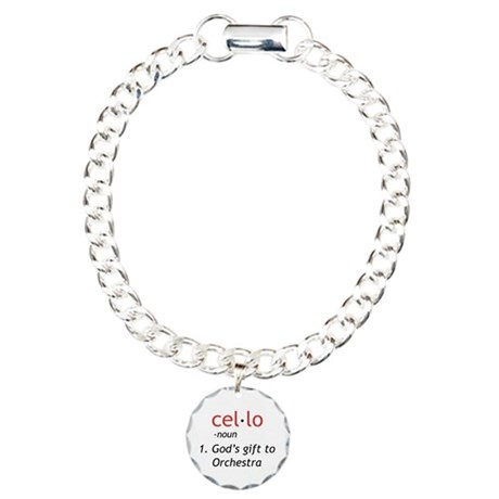 Cello Definition Charm Bracelet, One Charm