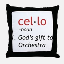 Cello Definition Throw Pillow