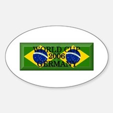 Brazil#14 Oval Decal