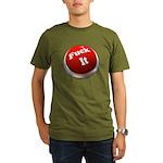 Fuck it button Organic Men's T-Shirt (dark)