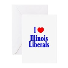 I Love Illinois Liberals Greeting Cards (Package o