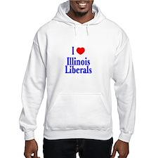 I Love Illinois Liberals Hoodie