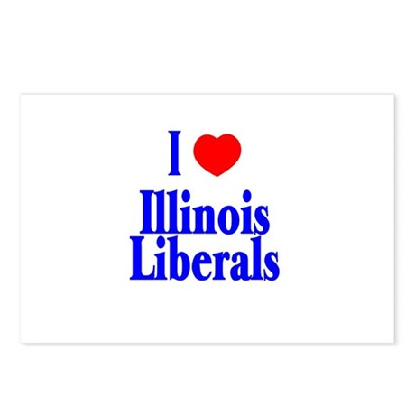 I Love Illinois Liberals Postcards (Package of 8)