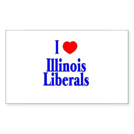 I Love Illinois Liberals Rectangle Sticker