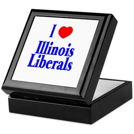 I Love Illinois Liberals Keepsake Box