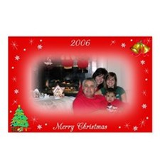 Personalized Christmas Postcards (Pkg of 8)
