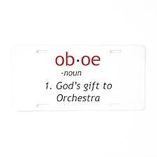 Oboe Definition Aluminum License Plate