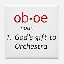 Oboe Definition Tile Coaster