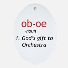Oboe Definition Ornament (Oval)