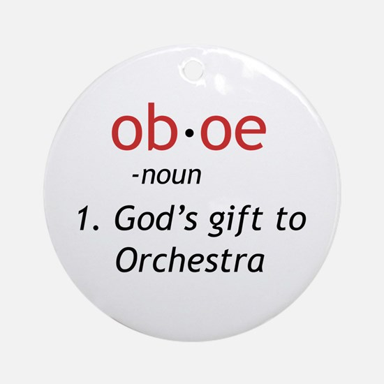 Oboe Definition Ornament (Round)