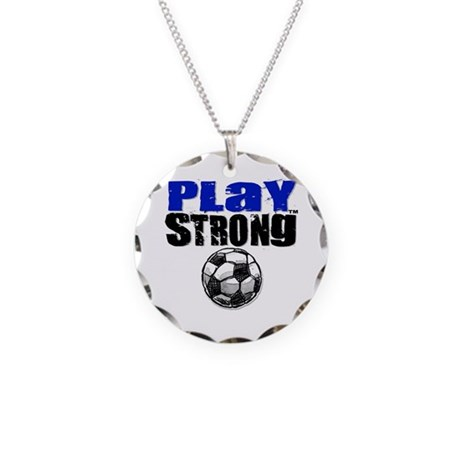 Play Strong Necklace Circle Charm