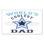World's Coolest Dad Rectangle Sticker