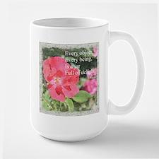 Rumi Quote Painted Rose Mug