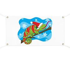 Christmas Chameleon Banner
