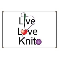 Live Love KNIT Banner